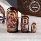 Матрёшка «Православная», 3 кукольная, Владимирская, Спас, Николай Чудотворец