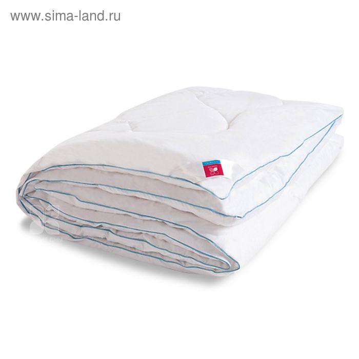 Одеяло стеганое Лель 200х220 см теплое 300 гр/м, искус.лебяжий пух, тик белый