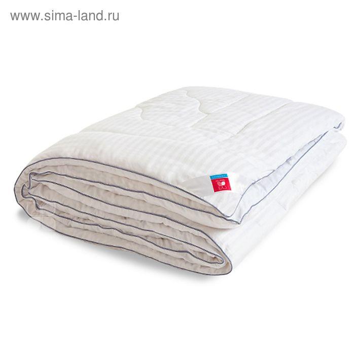 Одеяло стеганое Элисон 140х205 см легкое 200 гр/м, искус.лебяжий пух, сатин белый