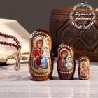 Матрёшка «Православная», 3 кукольная, Иверская, Казанская, Почаевская