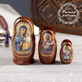 Матрёшка «Православная», 3 кукольная, Неувядаемый цвет, Аз есмь, Остробрамская