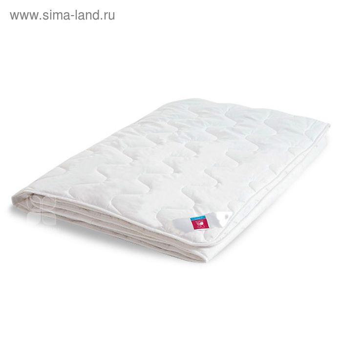 """Одеяло стёганое """"Лель"""" лёгкое, размер 172х205, искусственный лебяжий пух, тик, цвет белый, 200 гр/м2"""