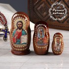 Матрёшка «Православная», 3 кукольная, Спас, Умиление, Николай Чудотворец
