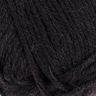 """Пряжа """"Уютная альпака"""" 20% шерсть, 20% альпака, 60% акрил объёмный 130м/100гр (02-Черный)"""
