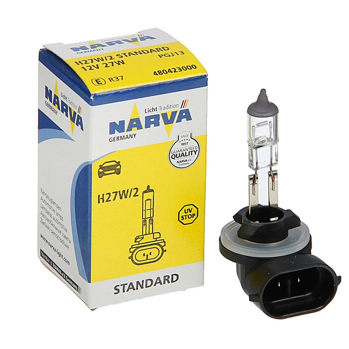 Лампа автомобильная Narva Standard, H27W/2, 12 В, 27 Вт