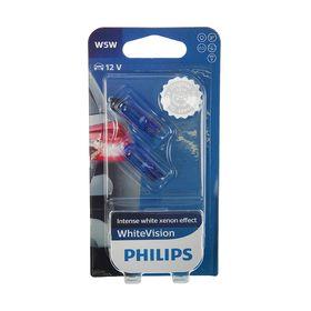 Car lamp Philips White Vision, W5W, 12 V, 5 W, set of 2 pcs.
