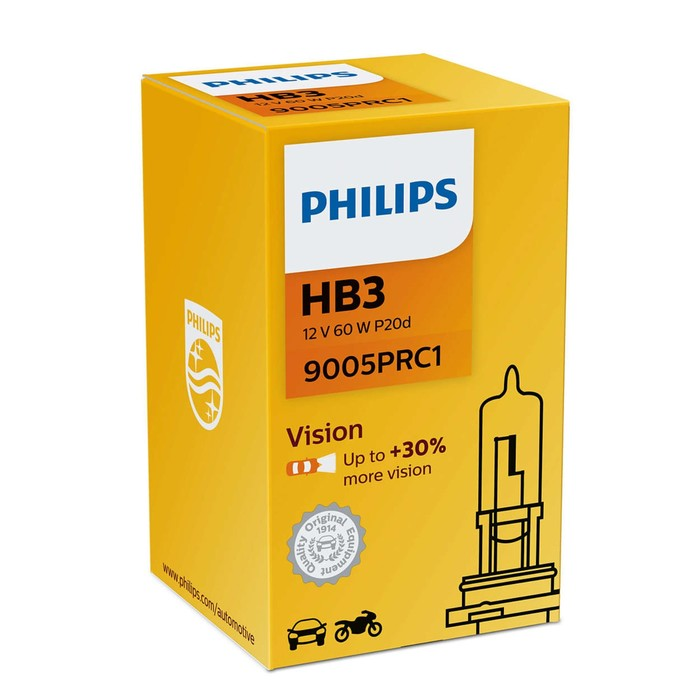 Лампа автомобильная Philips Vision Premium, HB3, 12 В, 65 Вт