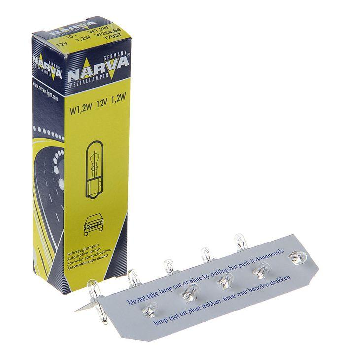 Лампа автомобильная Narva, W1.2W, 12 В, 1.2 Вт