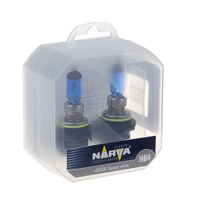 Лампа автомобильная Narva Range Power White, HB4, 12 В, 55-60 Вт, 2 шт