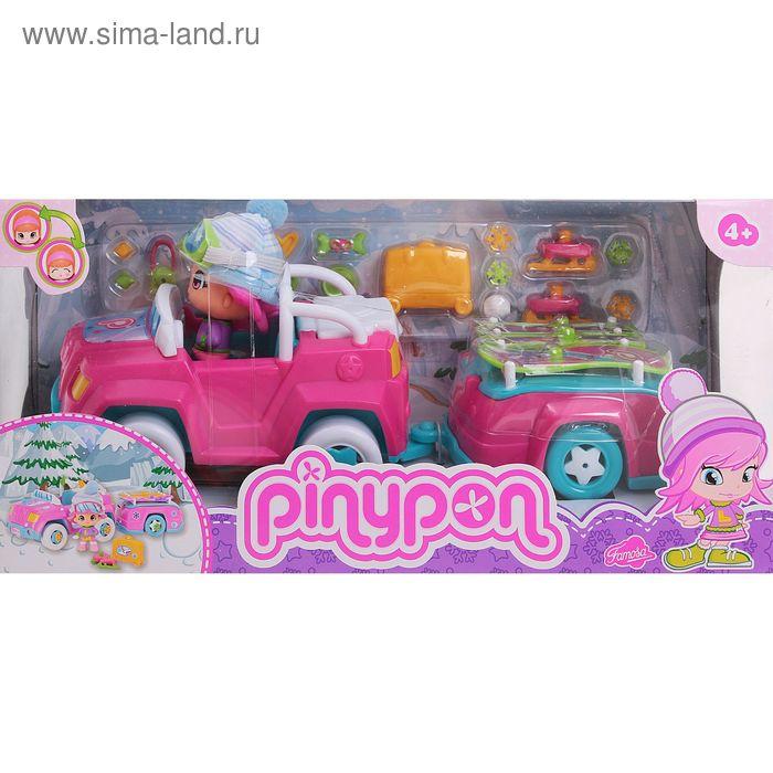 """Игровой набор """"Машинка с прицепом и кукла"""""""