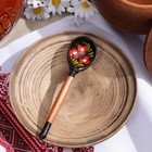 Spoon wooden Chernushka, little, Khokhloma, MIX