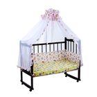 """Комплект в кроватку """"Зверята с игрушками"""" (2 предмета), цвет розовый (арт. 1542)"""