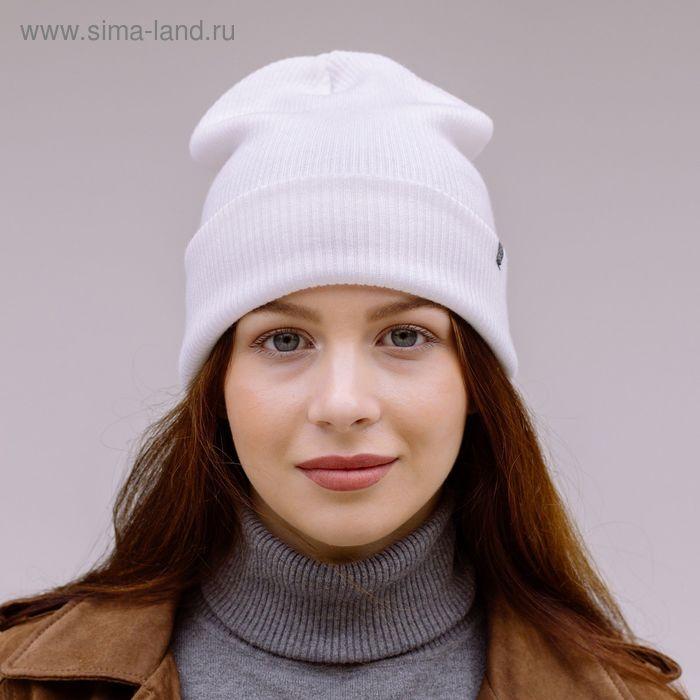 """Шапка молодежая """"ФРИДЕЙ"""", размер 56-58, цвет белый 170752"""
