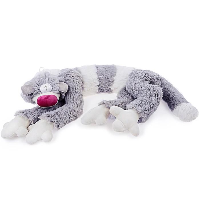 Мягкая игрушка «Кот Бекон», 112 см, цвет бело-серый - фото 106538615