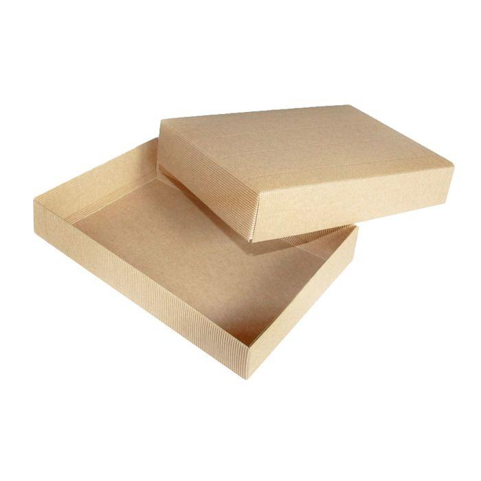 Коробка крафт из рифленого картона 30 х 20 х 5 см