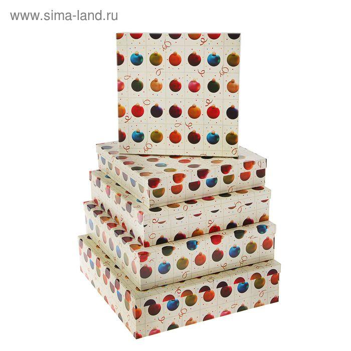 """Набор коробок 5 в 1 """"Елочные шары"""""""