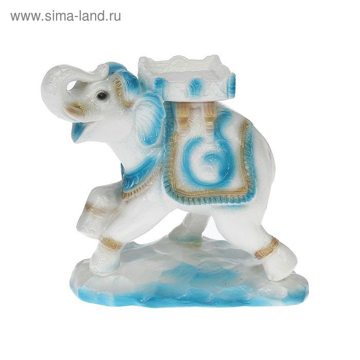 "Сувенир ""Слон стоя"" цвет гжель"