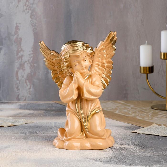 """Статуэтка """"Ангел с крыльями"""", бежевая, 27 см - фото 797667287"""