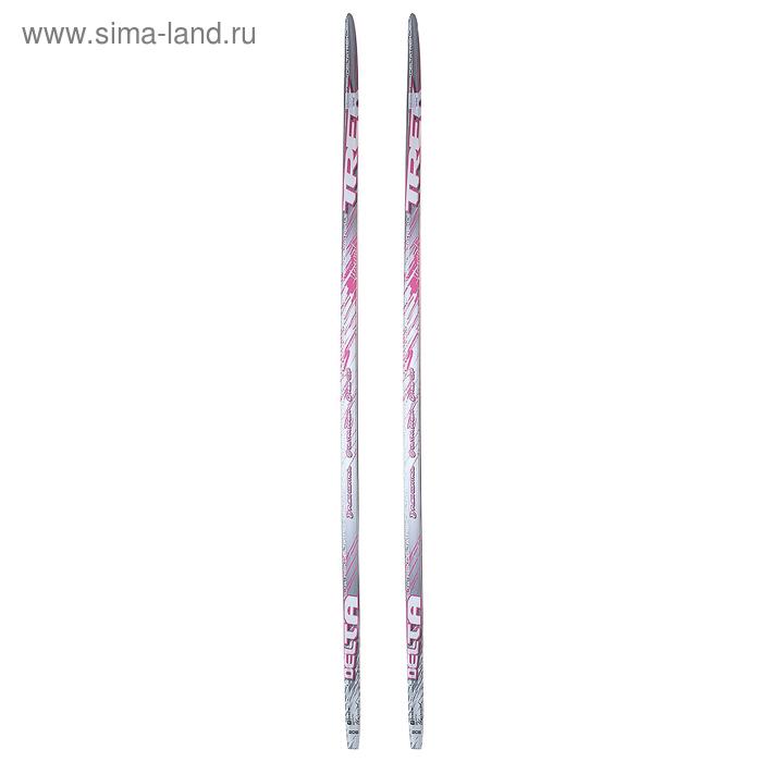 Лыжи пластиковые TREK Delta (Step, 205см, цвет розовый)
