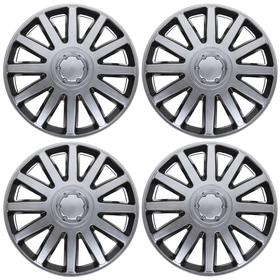 """Колпаки колесные R13 """"Элегант"""" Super Silver, набор 4 шт."""