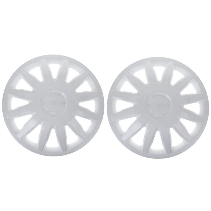 """Колпаки колесные R16 """"Элегант"""", на Газель, передние, белые, набор 2 шт."""