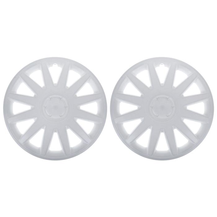 """Колпаки колесные R16 """"Элегант"""", на Газель, задние, белые, набор 2 шт."""