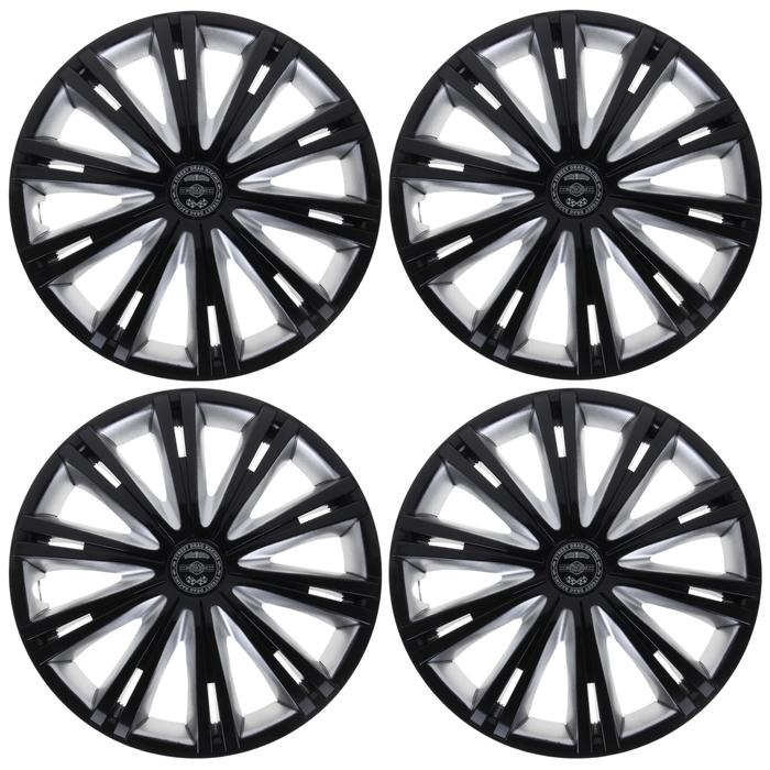 """Колпаки колесные R14 """"Гига"""" Super Black, набор 4 шт."""