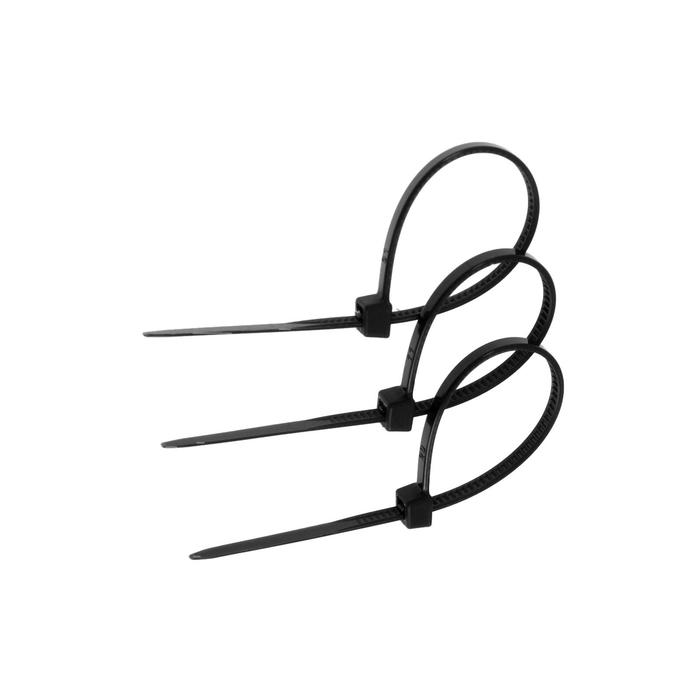 Хомут нейлоновый TUNDRA basic для стяжки, 2.5 х 100 мм, черный, в упаковке 100 шт.