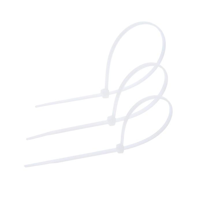 Хомут нейлоновый TUNDRA krep для стяжки, 3.6 х 200 мм, белый, в упаковке 100 шт.
