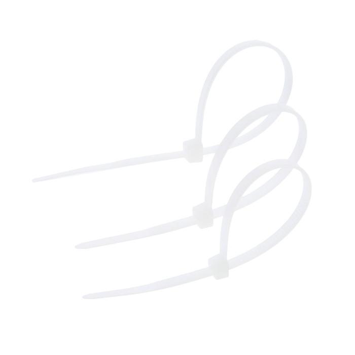 Хомут нейлоновый TUNDRA basic для стяжки, 3.6 х 150 мм, белый, в упаковке 100 шт.