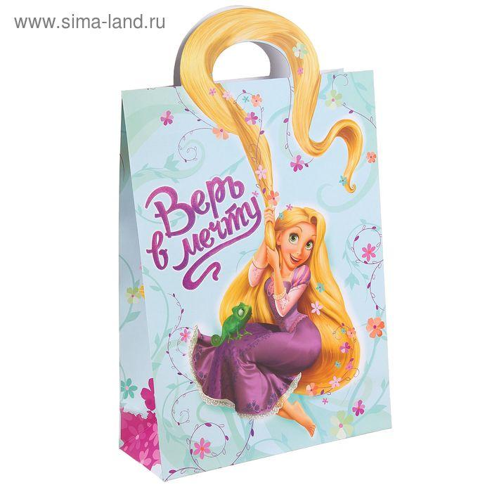 """Пакет подарочный с фигурной ручкой """"Верь в мечту"""", Принцесса"""