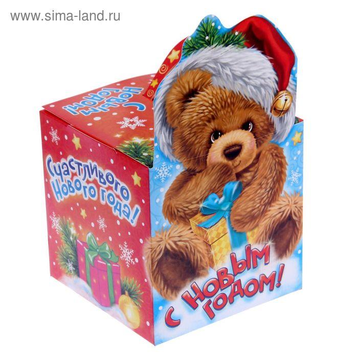 """Коробка складная """"Мишка"""", 15 х15 х15 см"""