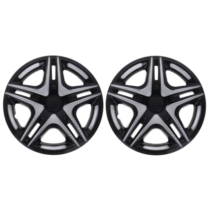 "Колпаки колесные R16 ""Дакар"" Super Black, на Газель, задние, набор 2 шт."