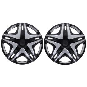 """Колпаки колесные R16 """"Дакар"""" Super Black, на Газель, передние, набор 2 шт."""