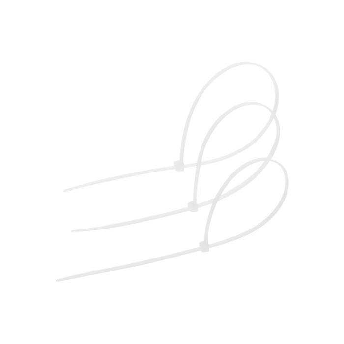 Хомут нейлоновый TUNDRA basic для стяжки, 3.6 х 300 мм, белый, в упаковке 100 шт.