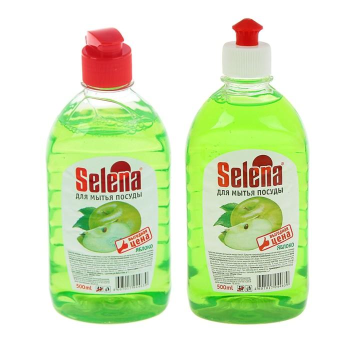 Средство для мытья посуды Selena Выгодная цена Яблоко, 500 мл