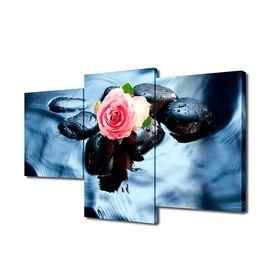 """Модульная картина на подрамнике """"Роза над водой"""", 26×50 см, 26×40 см, 26×32 см, 50×80 см"""