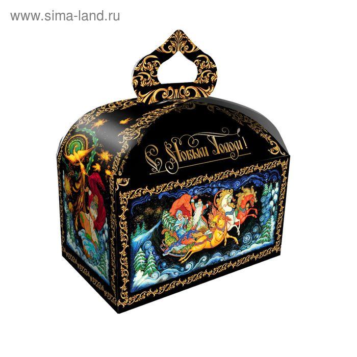 """Подарочная коробка """"Палех"""", сундучок, сборная, 18,5 х 12,5 х 16,5 см"""