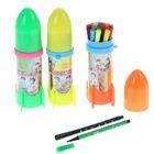 Фломастеры 18 цветов Ракета,в пластиковом тубусе,вентилируемый колпачок,МИКС