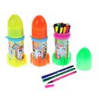 Фломастеры 24 цвета Ракета,в пластиковом тубусе,вентилируемый колпачок,МИКС
