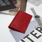 Обложка для паспорта, игуана красный