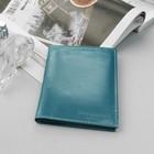 Обложка для автодокументов и паспорта, голубой глянцевый