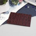 Футляр для карточки, кайман, цвет бордовый