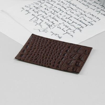 Футляр для карточки, коричневый кайман