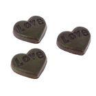 """Фигурки для поделок и декорирования """"Сердечки шоколадные"""", набор 4 шт."""