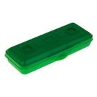 """Пенал пластиковый футляр 90х210х40 мм """"Премиум"""", зеленый"""