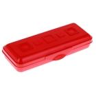 """Пенал пластиковый футляр 90х210х40 мм """"Премиум"""", красный"""