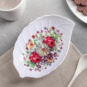 Блюдо фигурное 'Цветение'17х11,5х3 см, цвета МИКС Ош