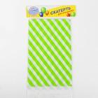 Скатерть «Диагональные зелёные полосы», 105х180 см