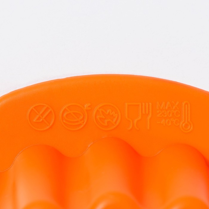 """Baking """"Corrugated circle. Star"""", with handles, MIX colors"""